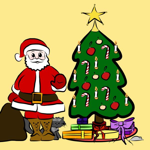 Jultomte_med_gran